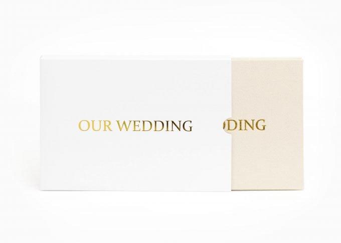 Wedding Video Books - Our Wedding - Box Gold