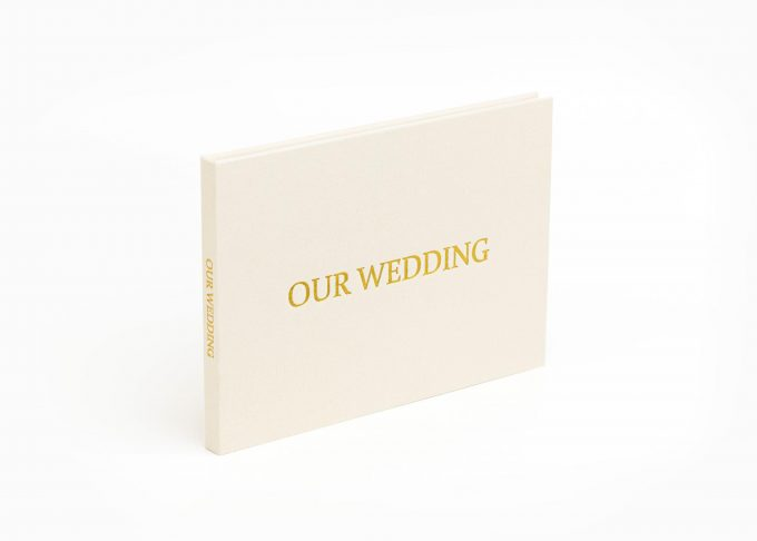 Wedding Video Books - Our Wedding - Front Gold