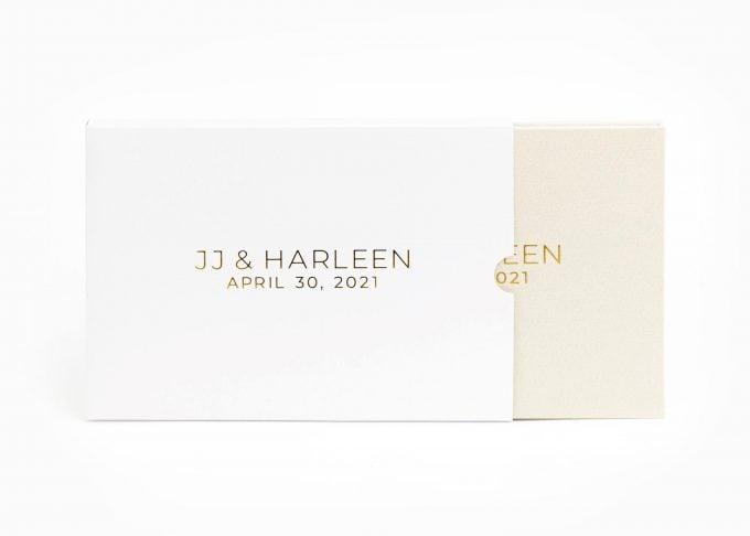 Wedding Video Books - CUSTOM - MODERN 2ROWS BOX Gold