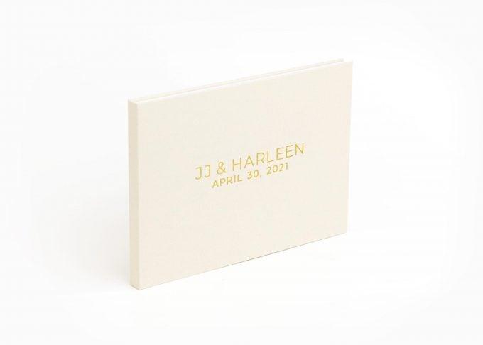 Wedding Video Books - CUSTOM - MODERN 2ROWS Front Gold