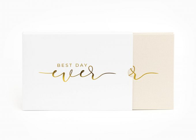 Wedding Video Books - Best DAY EVER - Box Gold