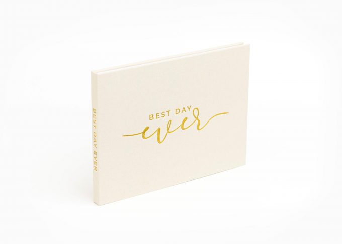 Wedding Video Books - Best DAY EVER - Front Gold