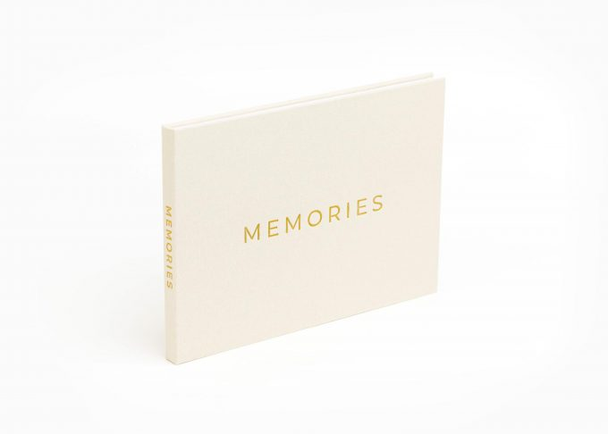 Wedding Video Books - MEMORIES - Front-Gold